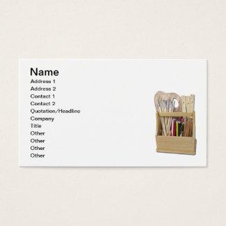 A caixa da arte escova lápis cartão de visitas