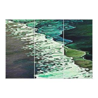 A calma suporta o Triptych das canvas - grande