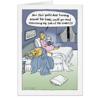"""""""A cama de casamento """" Cartão De Nota"""