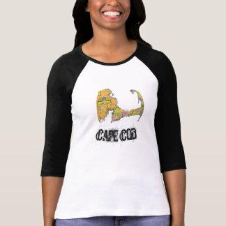 A camisa 2 das mulheres do mapa de Cape Cod