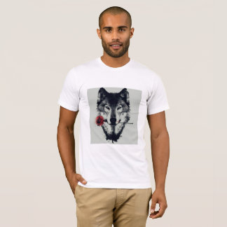 a camisa 3D Loup do lobo t aumentou camisa Hommes
