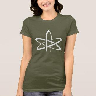 A camisa ateu das mulheres do átomo