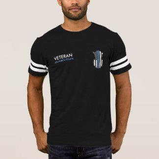 A camisa Blue Line fino da polícia de segurança