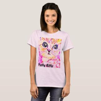 A camisa bonito das mulheres do gatinho