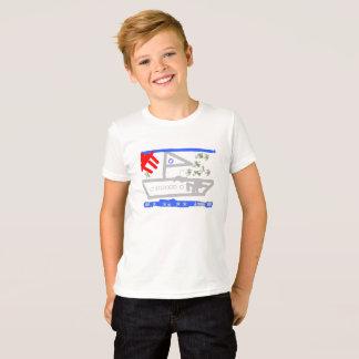 A camisa branca do navio mercante T
