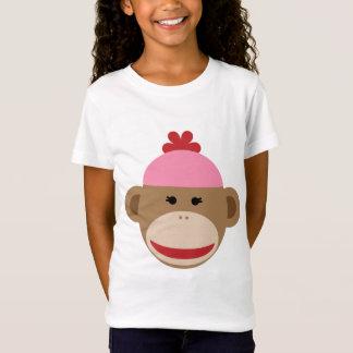 a camisa cabida da menina do macaco da peúga da