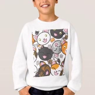 A camisa/camisola do miúdo dos gatinhos de Kawaii Agasalho