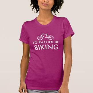 A camisa cor-de-rosa da bicicleta t para a prefere t-shirt