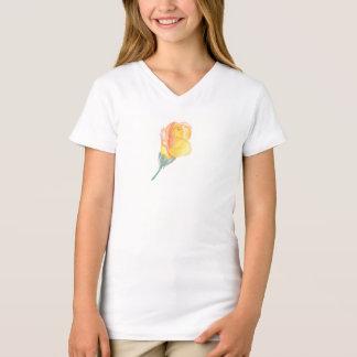 A camisa da criança cor-de-rosa da aguarela