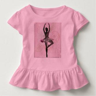 A camisa da criança do plissado da bailarina