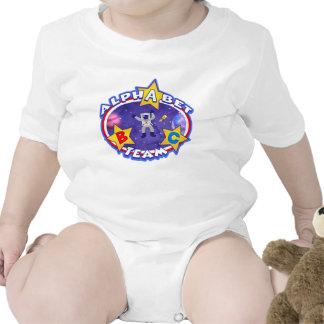 A camisa da equipe do alfabeto babador