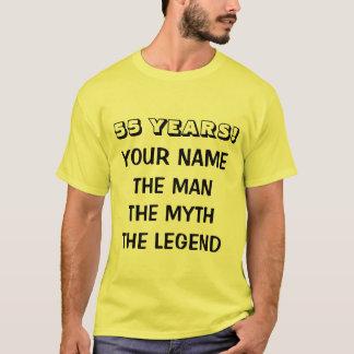 A camisa da legenda t do mito do homem para 55th