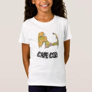 A camisa da menina do mapa de Cape Cod