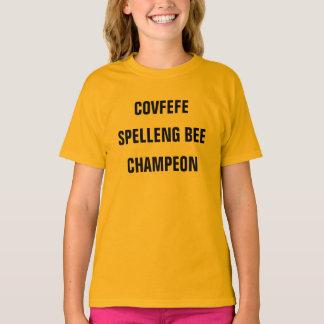 A camisa da menina engraçada da ABELHA CHAMPEON |