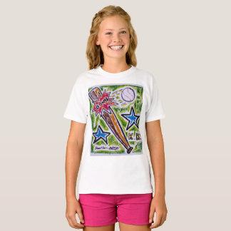 A camisa das meninas do bastão do CRESCIMENTO