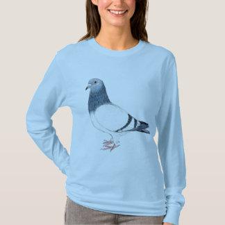 A camisa das mulheres da arte do pássaro do
