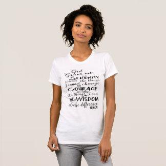 A camisa das mulheres da fé da oração da