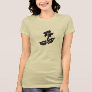 A camisa das mulheres da flor da tinta t-shirt