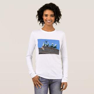 A camisa das mulheres da Longo-Luva com porta de
