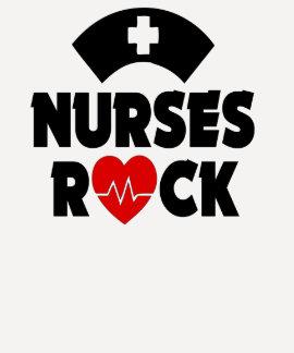 A camisa das mulheres da rocha das enfermeiras tshirt