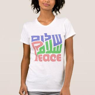 A camisa das mulheres da vénia de Shalom da paz