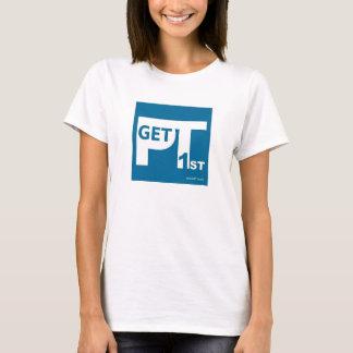 A camisa das mulheres de GetPT1st com logotipo