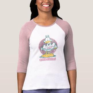 A camisa das mulheres de Quackers Camisetas
