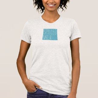 A camisa das mulheres derramadas do logotipo do