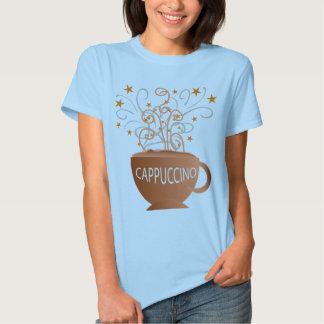 a camisa das mulheres do cappuccino camiseta