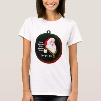 A camisa das mulheres do papai noel de Gangsta