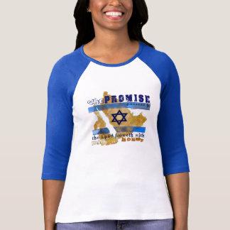 A camisa das mulheres do Raglan a promessa