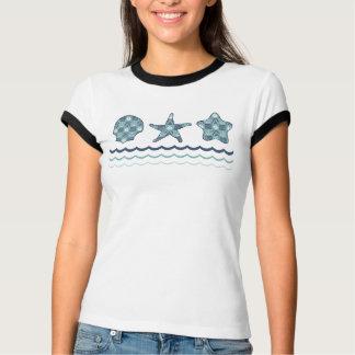 A camisa das mulheres náuticas da edredão