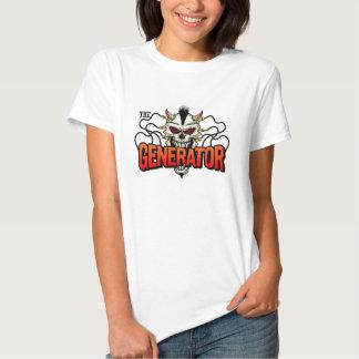 A camisa das senhoras do gerador t-shirts