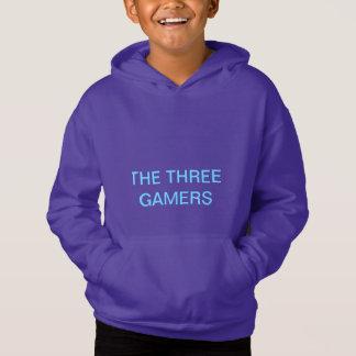 a camisa de três gamers para miúdos 5-9
