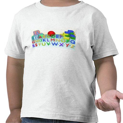 A camisa do alfabeto t-shirts