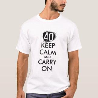 A camisa do aniversário de 40 anos t para homens |