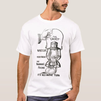 A camisa do design do preto da lanterna da estrada