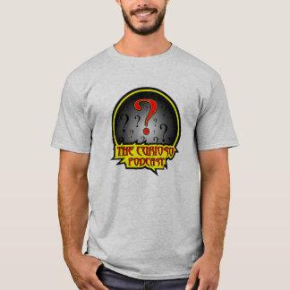A camisa do logotipo do Podcast de Curioso