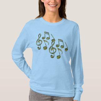 A camisa do melómano das notas musicais