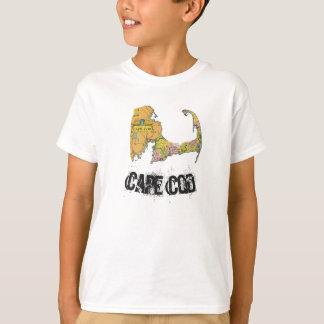 A camisa do menino do mapa de Cape Cod