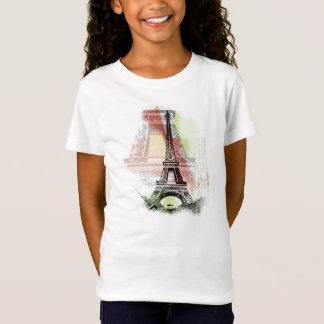A camisa do miúdo da torre Eiffel