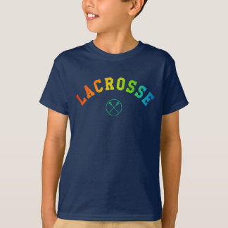 A camisa do miúdo do Lacrosse - texto curvado