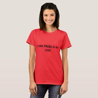 A camisa do pai para apoiar a criança de LGBQT