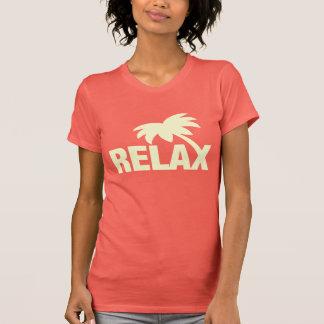 A camisa do verão t para mulheres   relaxa o