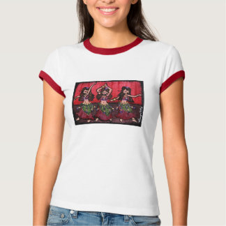 A camisa dos dançarinos de barriga