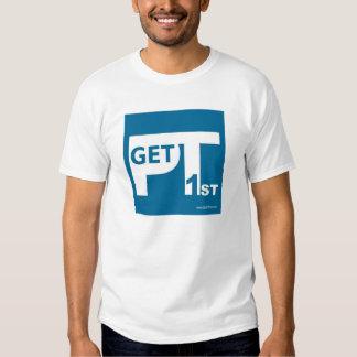 A camisa dos homens de GetPT1st com logotipo Camisetas