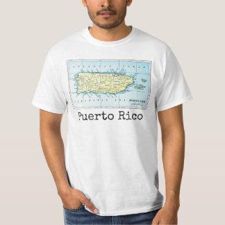 A camisa dos homens do mapa de Puerto Rico
