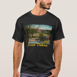 A camisa dos homens do parque estadual de Custer