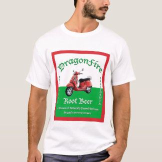 A camisa dos homens do refrigerante root beer de
