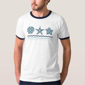 A camisa dos homens náuticos da edredão